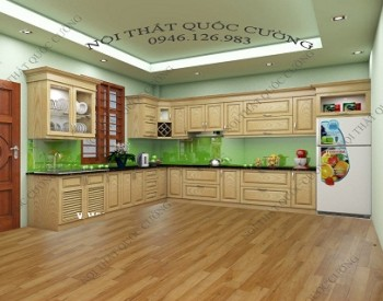 Tủ-bếp-gỗ-Sồi-Mỹ-350x275