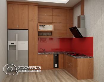 tủ bếp Xoan Đào cho gia đình ít người