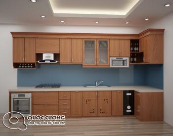 Tủ bếp Xoan Đào cho gia đình 3 người