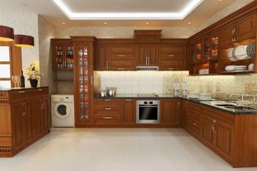 Tủ bếp gỗ Căm Xe bao nhiêu tiền