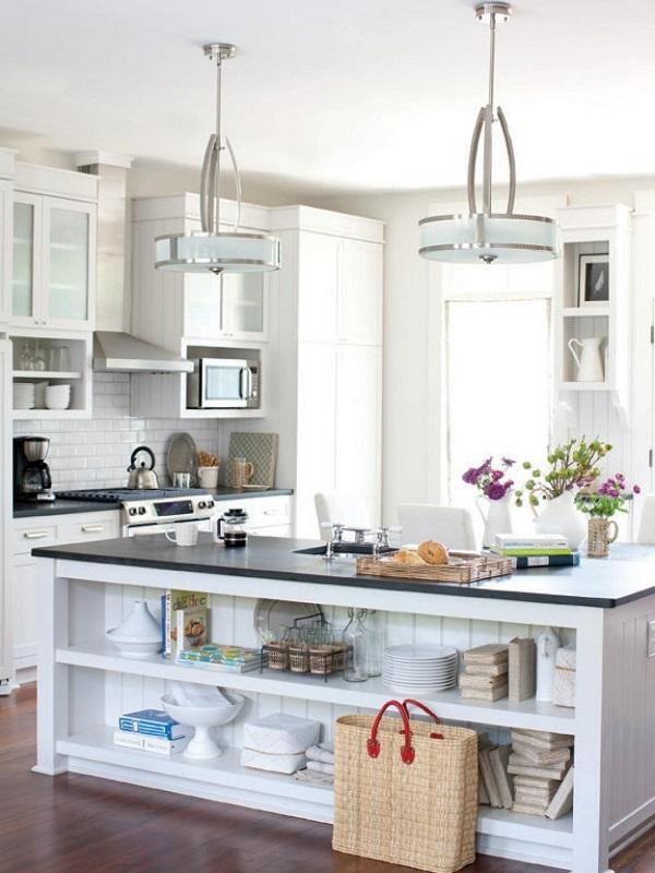 Tủ bếp gỗ Acylic với thiết kế độc đáo