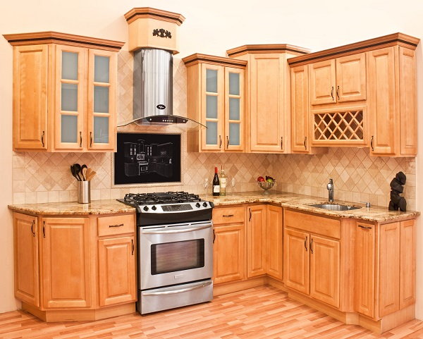 mẫu tủ bếp sồi nga đẹp