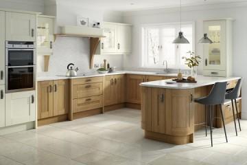 Tủ bếp gỗ Sồi Nga mang nét đẹp tinh tế, sang trọng