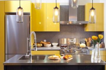 Mẫu Tủ bếp Laminate thiết kế phong cách hiện đại