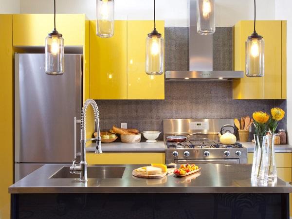 Tủ bếp Laminate thiết kế phong cách hiện đại