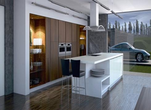 Tủ bếp gỗ hiện đại
