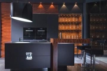 Tủ bếp gỗ hiện đại mang nhiều nét mới