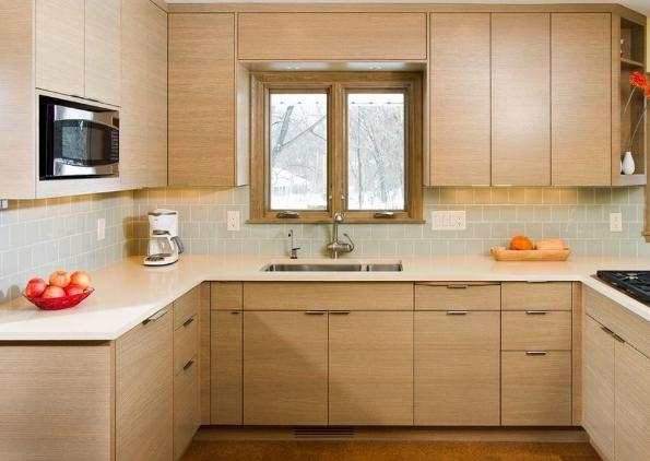 tủ bếp gỗ hiện đại chữ u