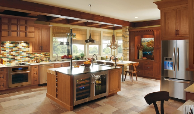 tủ bếp gỗ Xoan Đào cho Gia đình nhiều người