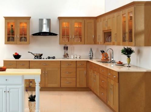 Tủ bếp gỗ Xoan Đào hình chữ L, I