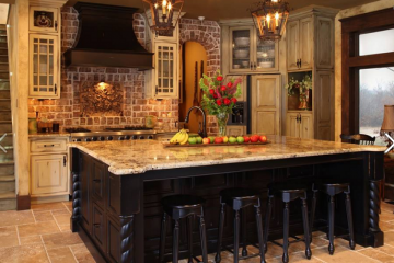 Tủ bếp gỗ Xoan Đào hình chữ L, vẻ đẹp từ thiên nhiên.