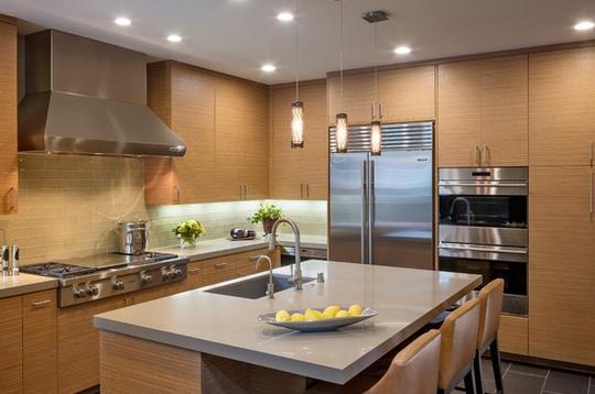 Tủ bếp laminate phù hợp kiến trúc nhà hiện đại