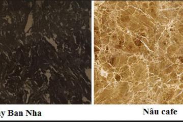 So sánh mặt đá bếp marble nâu Tây Ban Nha và nâu cafe