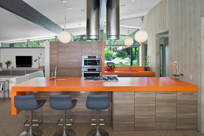 Không gian bếp trở nên ấn tượng hơn với mẫu tủ bếp Laminte trẻ trung, hiện đại