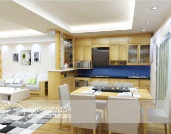 Tủ bếp gỗ Sồi Nga Inox 304 QC21 là mẫu tủ bếp gỗ tự nhiên thân thiện với môi trường và có độ bền cao, đồng thời khung inox 304 sáng bóng giúp thể hiện gu thẩm mỹ tốt của gia chủ.