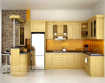 Tủ bếp gỗ sồi ngaQC-25 hầu hết được thiết kế theo xu hướng, phong cách thiết kế đơn giản dễ dàng phù hợp với các không gian nội thất hiện đại ngày nay.