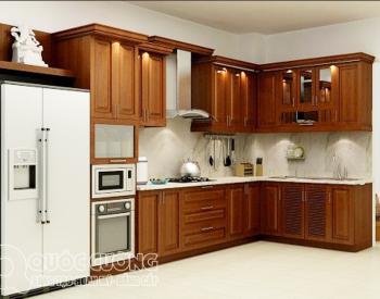 Tủ bếp giáng hương GH03 là mẫu tủ bếp được làm bằng gỗ tự nhiên quý hiếm, không độc hại và rất thân thiện với môi trường.