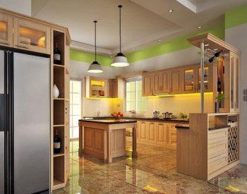 Tủ bếp gỗ Sồi Nga Inox 201 QCI20 là mẫu tủ bếp gỗ tự nhiên thân thiện với môi trường và có độ cứng, độ bền cao nhờ kết cấu gỗ sồi Nga khá chắc chắn. Hơn nữa, khung tủ bếp làm bằng inox 201 chống rỉ sét và chuột cắn giúp gia chủ dễ lau chùi khi sử dụng.