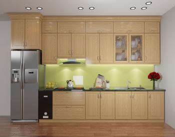 Tủ bếp gỗ Sồi Nga QC05 là mẫu tủ bếp gỗ tự nhiên rất thân thiện với môi trường và được yêu thích sử dụng bởi màu sắc tinh tế cùng hương thơm nhẹ nhàng của gỗ sồi Nga mang đến sự hài lòng, dễ chịu cho người dùng.