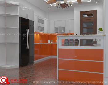 Tủ bếp gỗ Laminate Quốc Cường đẹp nhất Tu-bep-go-Laminate-L07-350x275