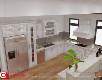 Tủ bếp TCD08 gồm các phụ kiện chức năng như giá inox, kệ gia vị, trạn bát, thùng gạo, thùng rác và thiết bị bếp như lò nướng, thiết bị hút mùi, bếp từ đều được nhập khẩu từ các thương hiệu Faster, Blum, Hafele, Malocca, EuroGold …