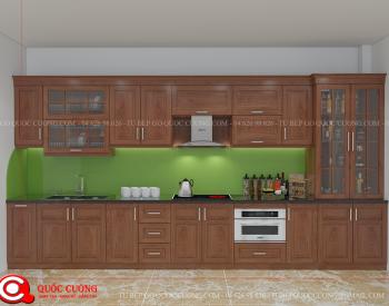 Tủ bếp gỗ xoan đào Inox 201 XDI011 được làm bằng chất liệu gỗ tự nhiên không pha tạp có sơn PU chống ngả màu, khung tủ làm bằng inox 201 chống rỉ sét và chuột cắn, phần tủ dưới được gia cường thêm inox 201, hậu tủ được thiết kế là Alu nhôm giúp cách ẩm với tường.