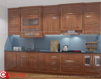 Những phụ kiện tủ bếp xoan đào XDI015 gồm thiết bị bếp như lò nướng, bếp từ, thiết bị hút mùi và phụ kiện chức năng như trạn bát, chậu rửa, kệ gia vị được nhập khẩu từ các thương hiệu như Faster, Hafele, Blum, Abber, Malocca, …