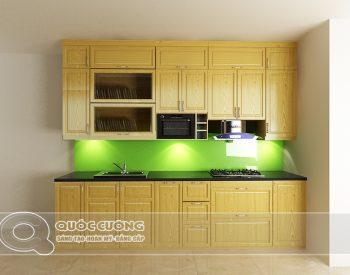 Tủ bếp gỗ Sồi Nga Inox 304 QC17 là mẫu tủ bếp gỗ tự nhiên thân thiện với môi trường và có độ bền chắc giúp người dùng hoàn toàn yên tâm khi sử dụng.
