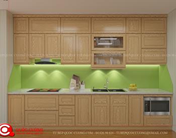 Tủ bếp gỗ Sồi Nga Inox 304 QC19 là mẫu tủ bếp gỗ tự nhiên được nhập khẩu từ Châu Âu có độ bền cao bởi chất liệu gỗ Sồi Nga có kết cấu chắc chắn, đồng thời khung inox 304 sáng bóng tạo độ thẩm mỹ cao cho căn bếp.