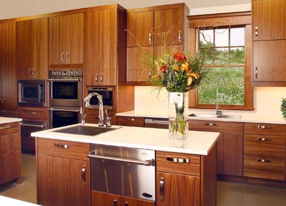 Tủ bếp gỗ Óc Chó đảo