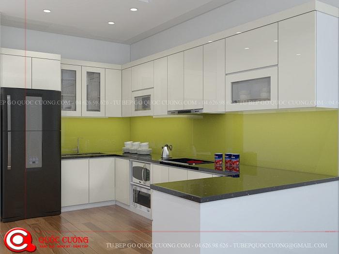 Tủ bếp Acrylic đẹp nhất