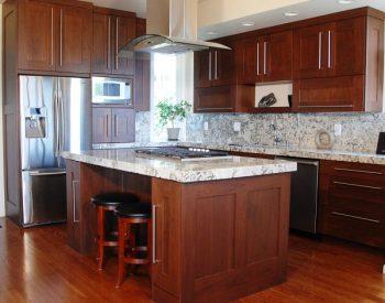 Tủ bếp gỗ Sồi Nga Quốc Cường đẹp nhất tu-bep-go-soi-nga-l-SV01-350x275