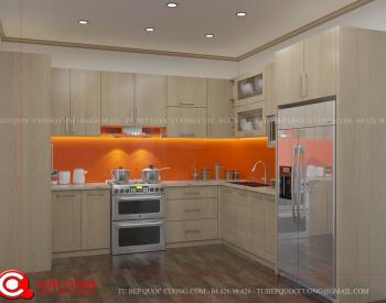 Tủ bếp gỗ Laminate Quốc Cường đẹp nhất tusoihong-350x275