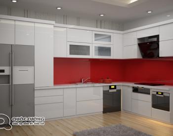 Tủ bếp Acrylic A22 là mẫu tủ bếp gỗ công nghiệp rất thân thiện với môi trường và có các ưu điểm vượt trội như như khả năng chịu nhiệt, chịu lực tốt.