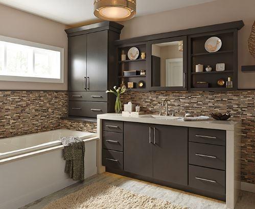 Phá cách về không gian phòng bếp với tủ bếp hiện đại.