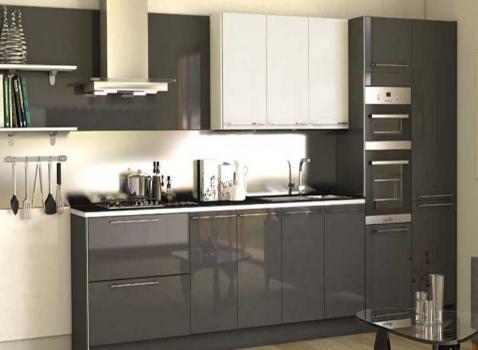 Tủ bếp gỗ Acrylic thiết kế cho căn bếp hiện đại