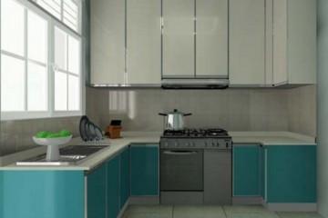 Tư vấn lắp đặt tủ bếp Acrylic hình chữ U