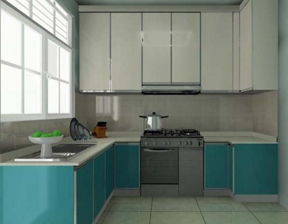 tủ bếp Acrylic hình chữ U