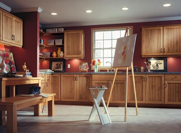 Thiết kế căn bếp sang trọng bằng tủ bếp gỗ sồi