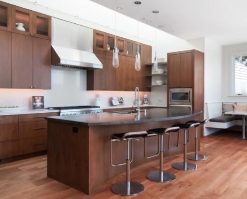 tủ bếp gỗ xoan đào đẹp 2017