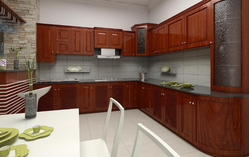 Nên chọn Tủ bếp gỗ Xoan Đào hay Tủ bếp Acrylic. tu-bep-xoan-dao-acrylic-2