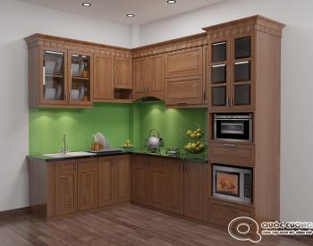Tủ bếp XD01 cóđộ bền cao,có màu sắc trầm tạo nên sựấm cúng cho căn bếp.