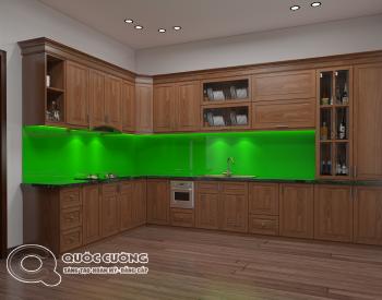 Tủ bếp XD02 cóđộ bền cao,có màu sắc trầm tạo nên sựấm cúng cho căn bếp.