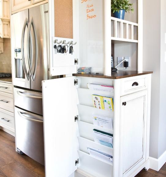 Tủ bếp Laminate thiết kế ngăn kéo góc và hệ thống dọc