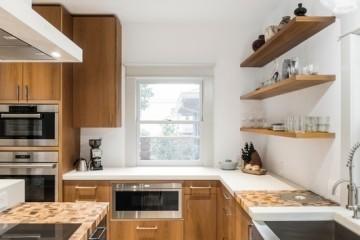 Tủ bếp Laminate ngăn kéo nhiều tầng