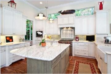 Lựa chọn mẫu đá granite làm mặt đá tủ bếp màu trắng
