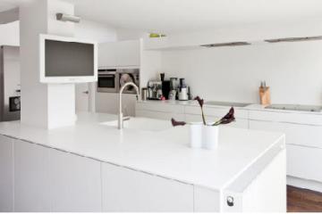 Đặc điểm của đá ốp bếp marble trắng sứ dẻo