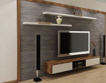 Kệ Tivi Phòng Khách gỗ MFC- Melamine An Cường-KTV-03