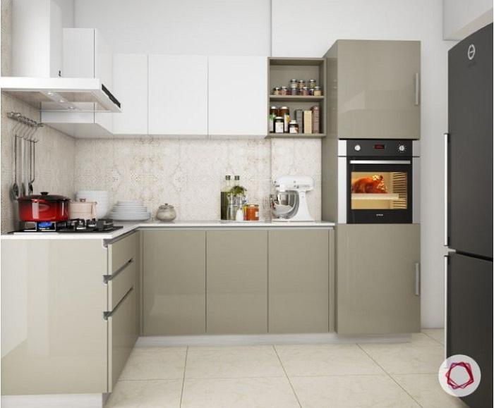 Mẫu tủ bếp đẹp acrylic sang trọng hiện đại và tiện dụng