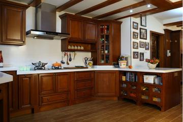 Tổng hợp những mẫu tủ bếp gỗ Hương đẹp nhất